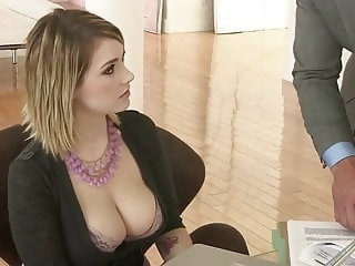 secretary fucks with her boss,,